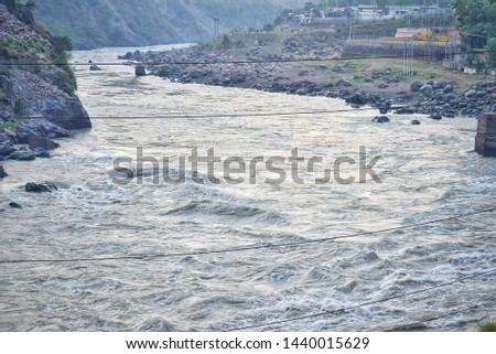chenab river pic early in a summer morning