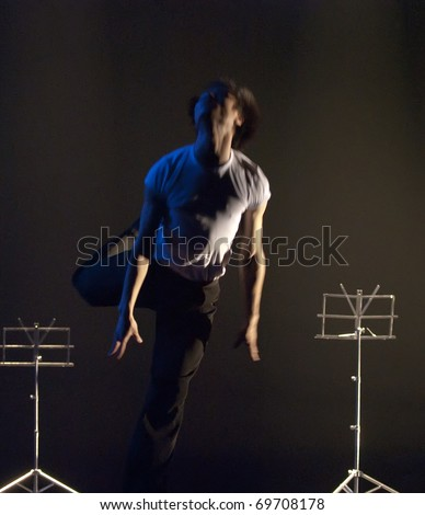 CHENGDU, CHINA - APRIL 8: A hip-hop dance \