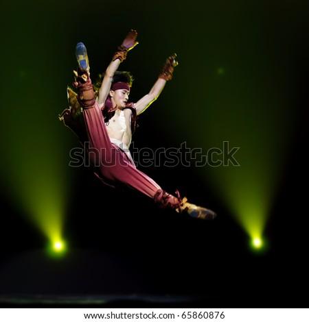 CHENGDU - DEC 14: Chinese folk dance \