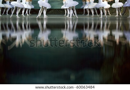 CHENGDU - DEC 24: Swan Lake ballet performed by Russian royal ballet at Jinsha theater December 24, 2008 in Chengdu, China. - stock photo