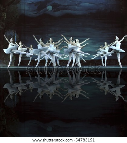 CHENGDU DECEMBER 24 Russian royal ballet perform Swan Lake ballet at Jinsha theater December 24 2008 in Chengdu China.