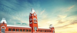 chennai central railway station TAMIL NADU INDIA