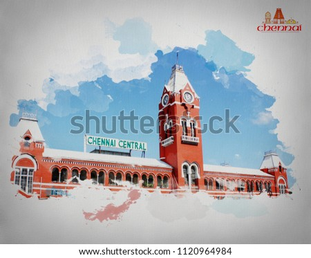 CHENNAI CENTRAL RAILWAYSTATION