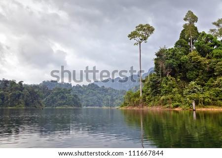Cheow Lan lake. Khao Sok National Park. Thailand.