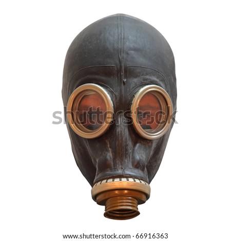 Chernobyl mask isolated on white