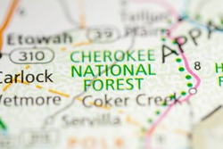 Cherokee National Forest. Tennessee. USA
