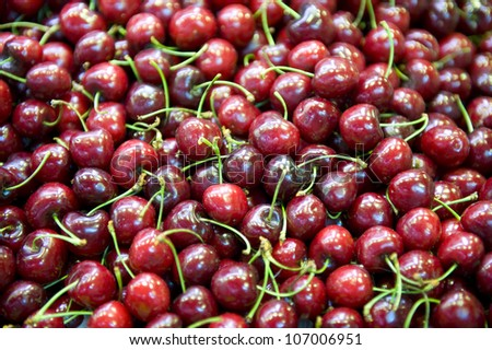 cherries fruit fresh and ripe for sale