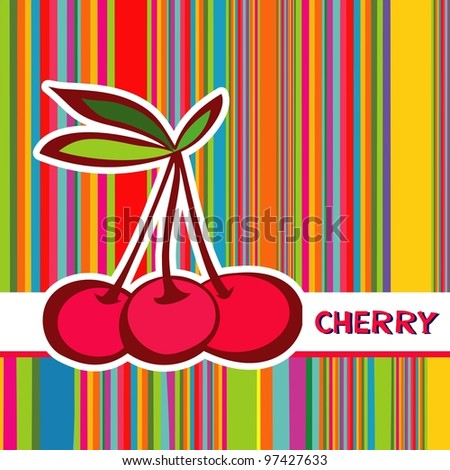 cherries. illustration - stock photo