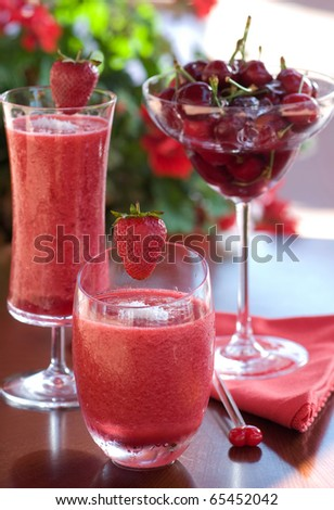 cherry and strawberry juice