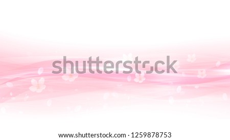 Cherry blossoms and pink waves  ストックフォト ©