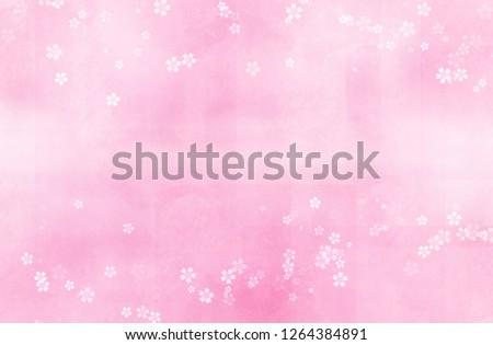 Cherry blossoms illustration (pink blurred background)  ストックフォト ©