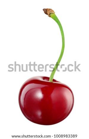 cherry isolated. cherry on...