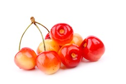 cherry on a white background