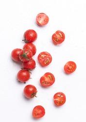 Cherry tomato fresh isolated on white background