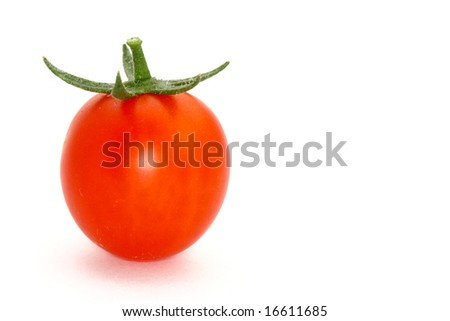 Cherry tomato with copy space