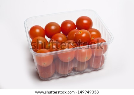 Cherry tomatoes in a box