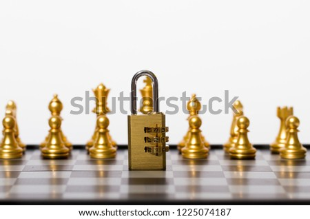 Chess and locks, security and protection #1225074187