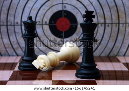 Chess and target concept ストックフォト ©