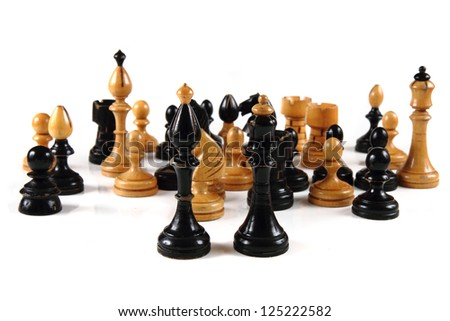 chess background - stock photo