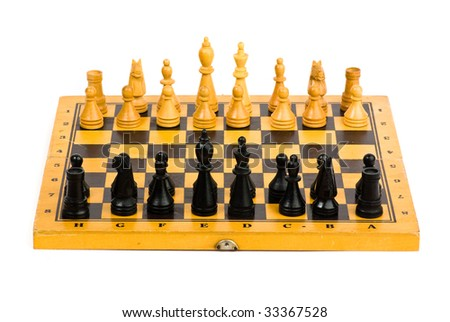 chess battle isolated