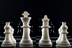 chess battle on board classic strategy game.
