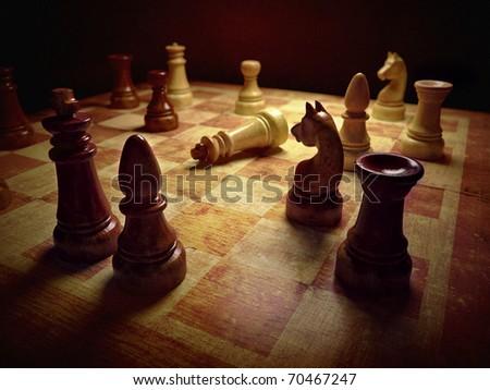 Chess board 3d rendering