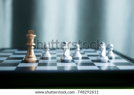 chess board game competition business concept #748292611