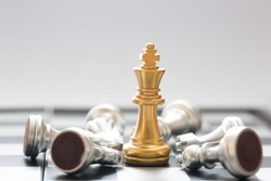 chess board game concept of business ideas and competition and stratagy plan success meaning. winer