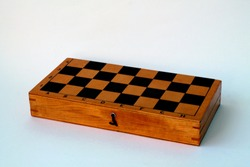 Chess board isolated on a white background