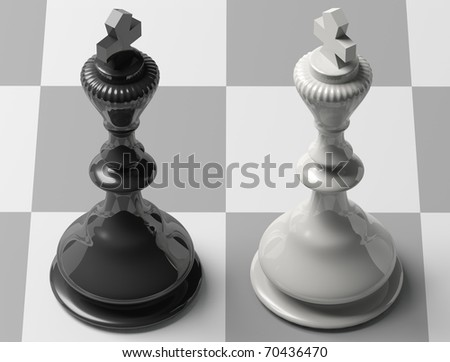 Chess board with figures Three Dimensional shape  THE DEATH GAME