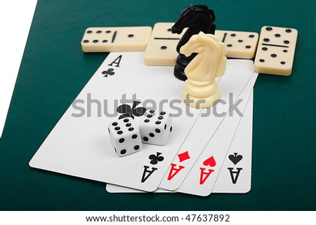 Chess, cards, dice, dominoes - the main board games.