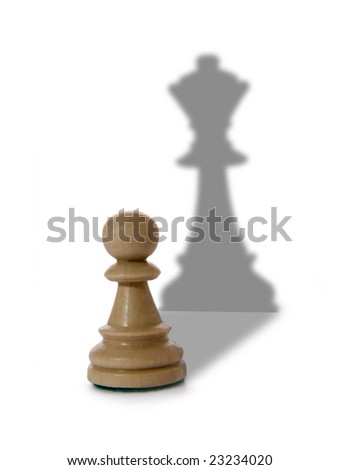 Chess composition isolated on white background