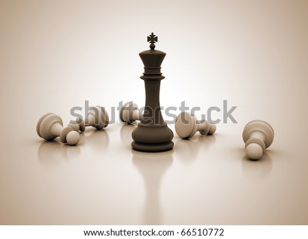 Chess concept image - Success
