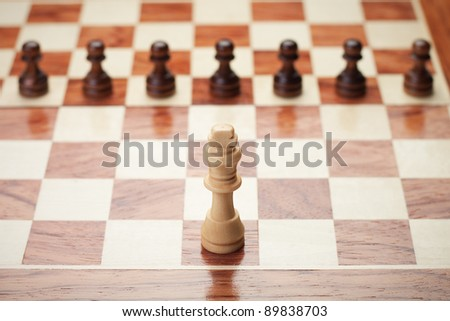 chess concept over grey background