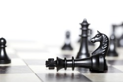 chess figures - strategy and leadership concept