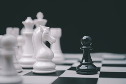 Chess game competition business concept