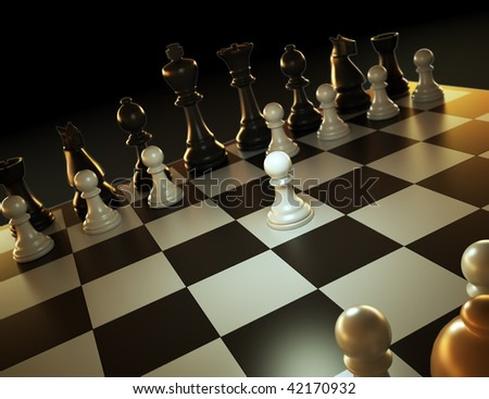 Chess game - one against many