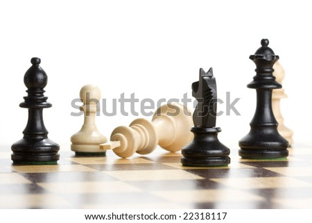 Chess - Game Over - stock photo