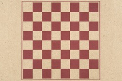 Chess hame on brown wood board background.