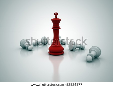 Chess king standing - game over