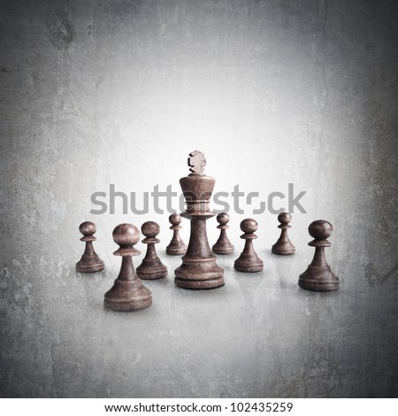 Chess king standing grunge high resolution