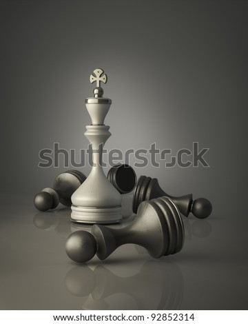 Chess king standing High resolution 3D