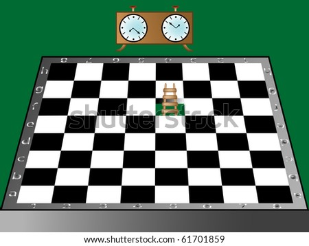 chess, ladder and clock, abstract art illustration; for vector format please visit my gallery