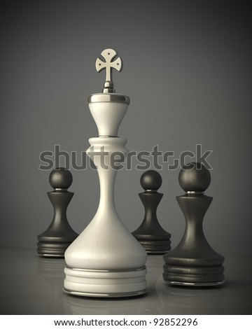 chess Leadership concept High resolution 3D