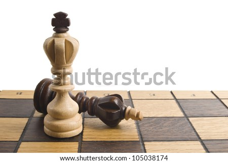 chess on white