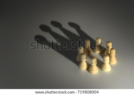 chess pawn circle with shadow...