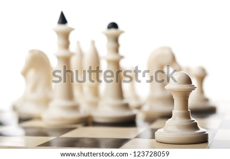 chess pawn isolated on white
