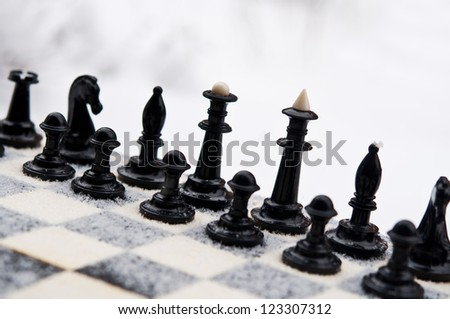 chess pawn piece on board