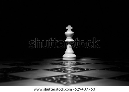 Stock Photo Chess photographed on a chess board