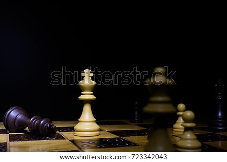 Chess photographed on a chess board #723342043